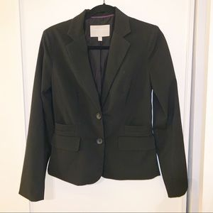 Banana Republic Sz 4 2 Button Black Blazer
